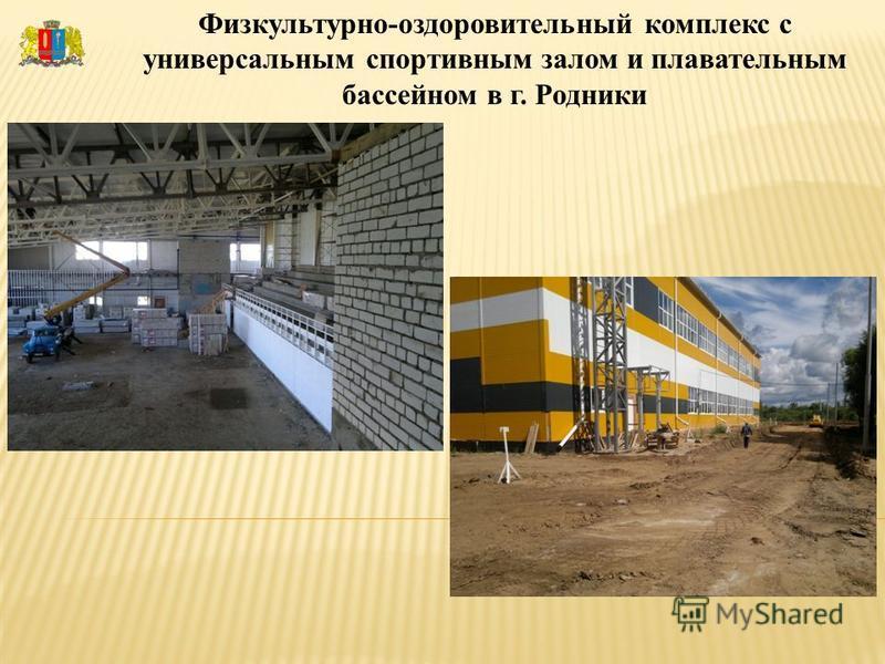 Физкультурно-оздоровительный комплекс с универсальным спортивным залом и плавательным бассейном в г. Родники