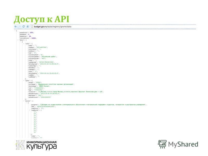 Доступ к API