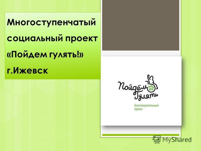 Многоступенчатый социальный проект «Пойдем гулять!» г.Ижевск