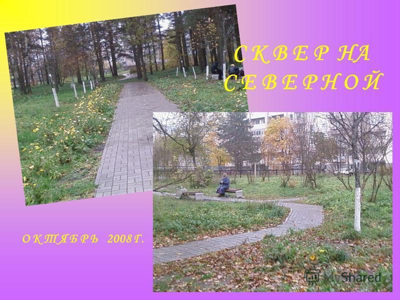 С К В Е Р НА С Е В Е Р Н О Й О К Т Я Б Р Ь 2008 Г.