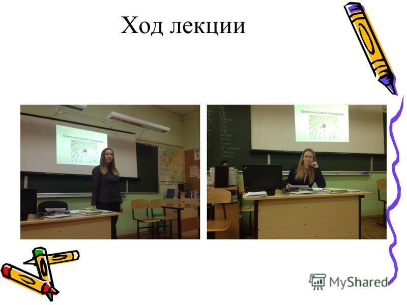 Ход лекции