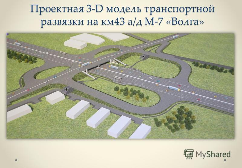 Проектная 3-D модель транспортной развязки на км 43 а/д М-7 «Волга»