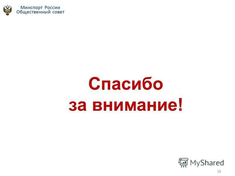 Минспорт России Общественный совет 18 Спасибо за внимание!