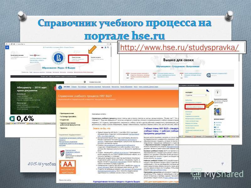 2015-16 учебный год, НИУ ВШЭ 4 http://www.hse.ru/studyspravka/