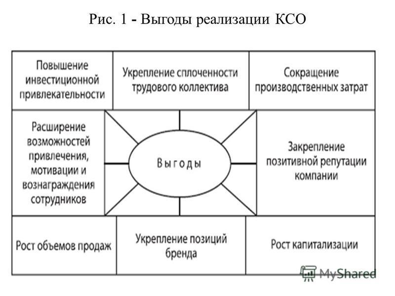 Рис. 1 - Выгоды реализации КСО