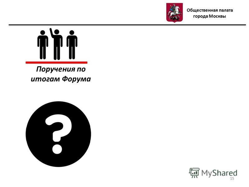 Поручения по итогам Форума Общественная палата города Москвы 15