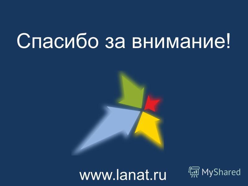 Спасибо за внимание! www.lanat.ru