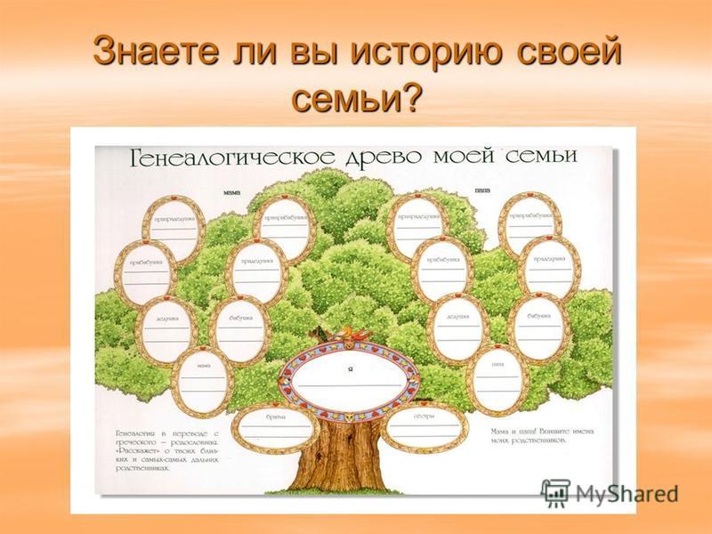 Знаете ли вы историю своей семьи?