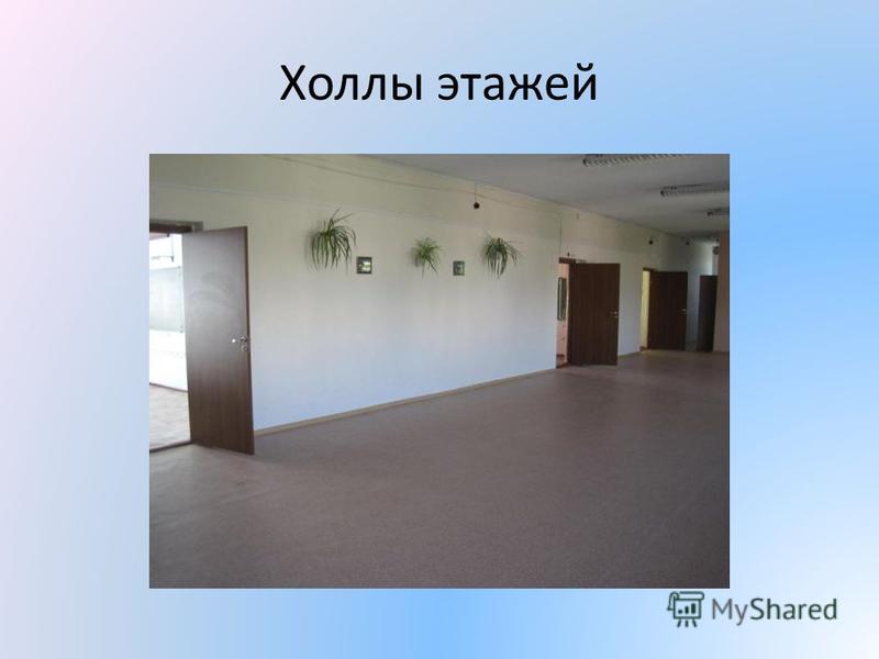 Холлы этажей