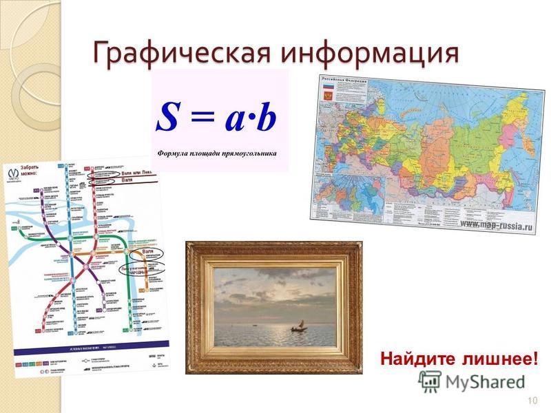 Графическая информация Найдите лишнее! 10