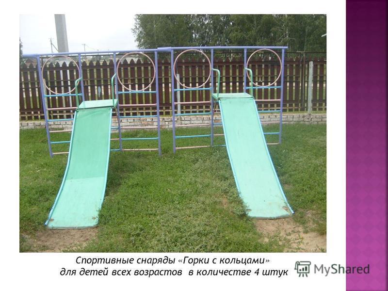 Спортивные снаряды «Горки с кольцами» для детей всех возрастов в количестве 4 штук