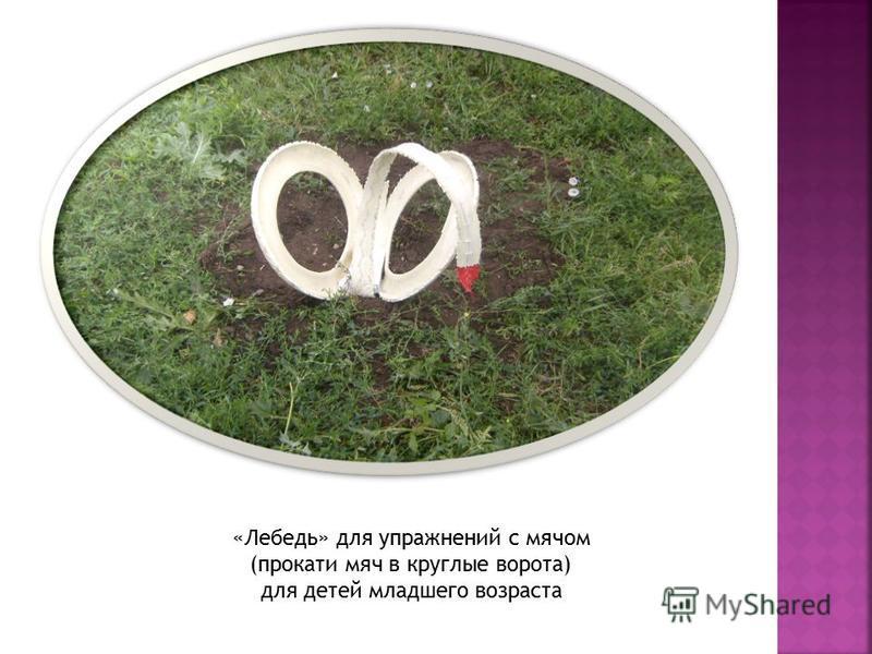 «Лебедь» для упражнений с мячом (прокати мяч в круглые ворота) для детей младшего возраста