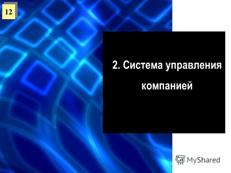 2. Система управления компанией 12
