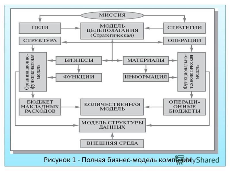 Рисунок 1 - Полная бизнес-модель компании