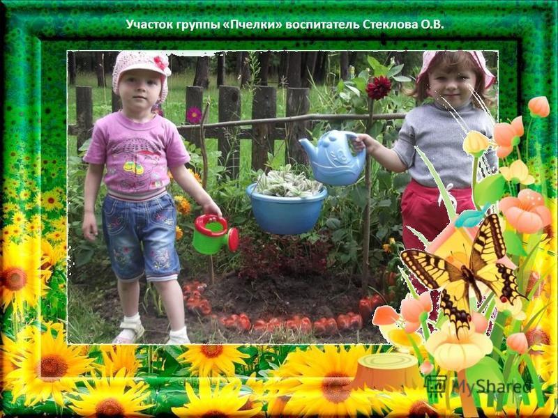 Участок группы «Пчелки» воспитатель Стеклова О.В.