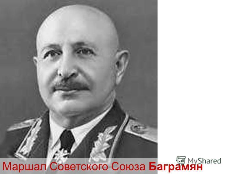Маршал Советского Союза Баграмян