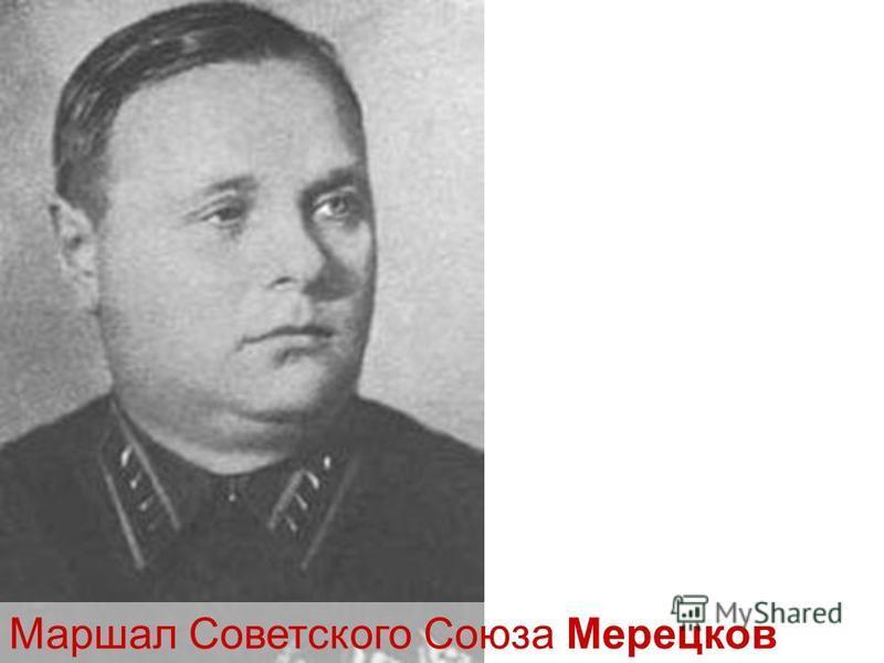 Маршал Советского Союза Мерецков