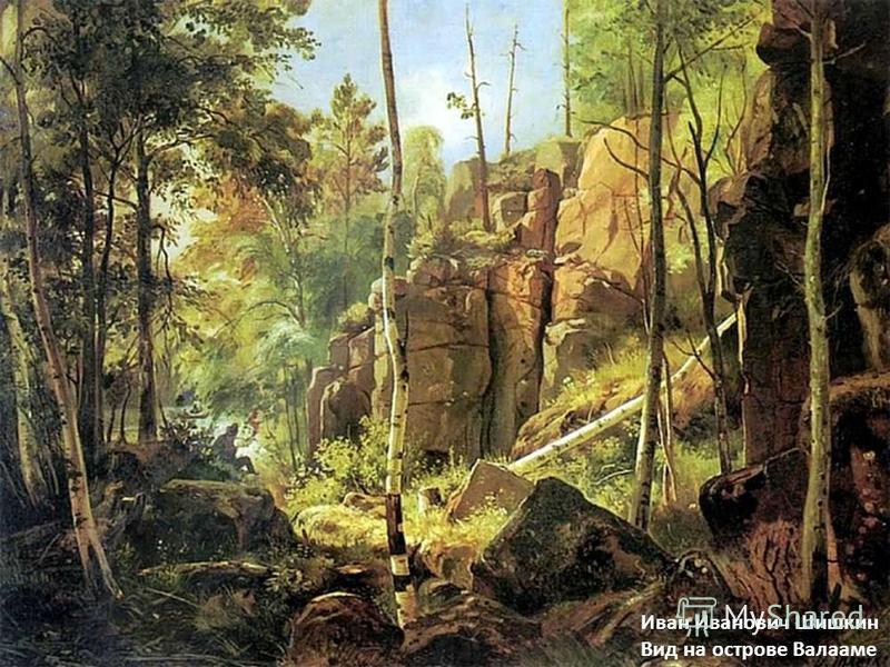 Иван Иванович Шишкин Вид на острове Валааме