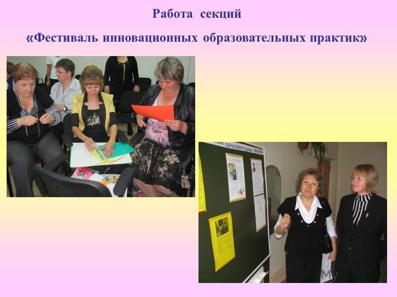 Работа секций « Фестиваль инновационных образовательных практик »
