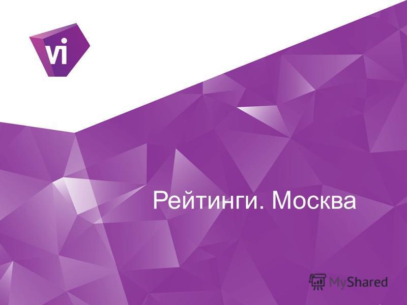 Рейтинги. Москва
