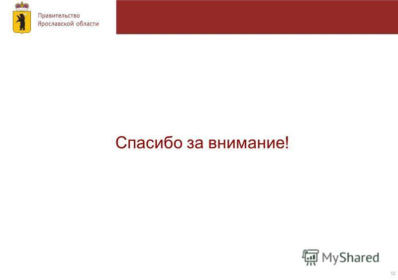 Правительство Ярославской области 12 Спасибо за внимание!