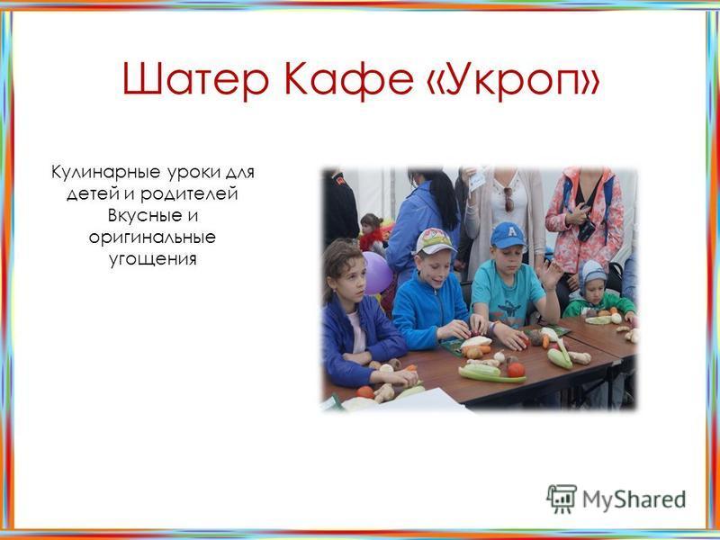 Шатер Кафе «Укроп» Кулинарные уроки для детей и родителей Вкусные и оригинальные угощения