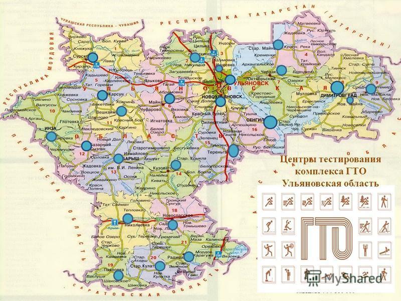 Центры тестирования комплекса ГТО Ульяновская область