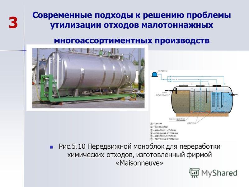 Современные подходы к решению проблемы утилизации отходов малотоннажных многоассортиментных производств Рис.5.10 Передвижной моноблок для переработки химических отходов, изготовленный фирмой «Maisonneuve» Рис.5.10 Передвижной моноблок для переработки