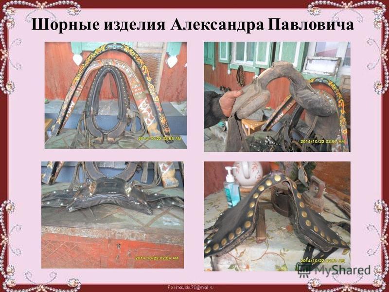 Шорные изделия Александра Павловича