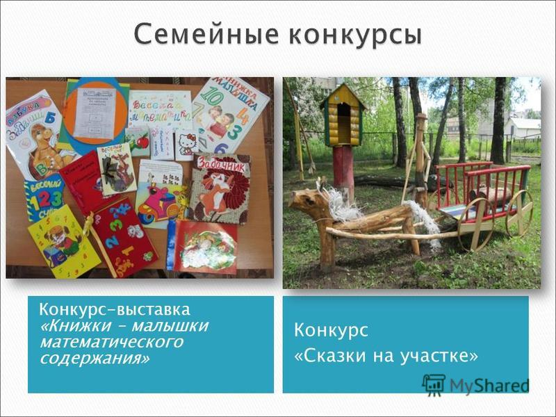 Конкурс-выставка «Книжки – малышки математического содержания» Конкурс «Сказки на участке»