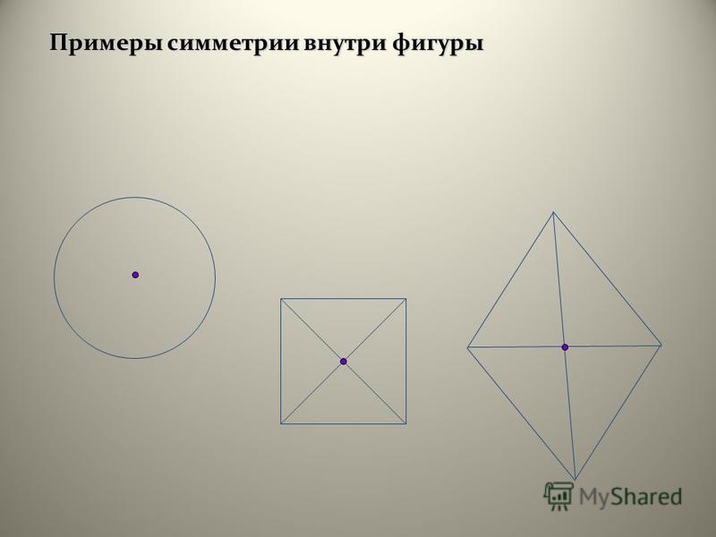 Примеры симметрии внутри фигуры