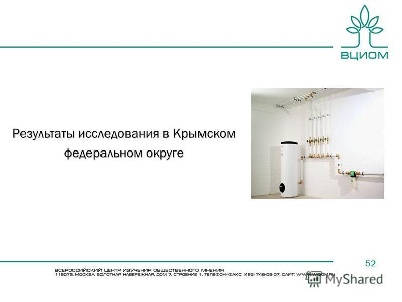 52 Результаты исследования в Крымском федеральном округе