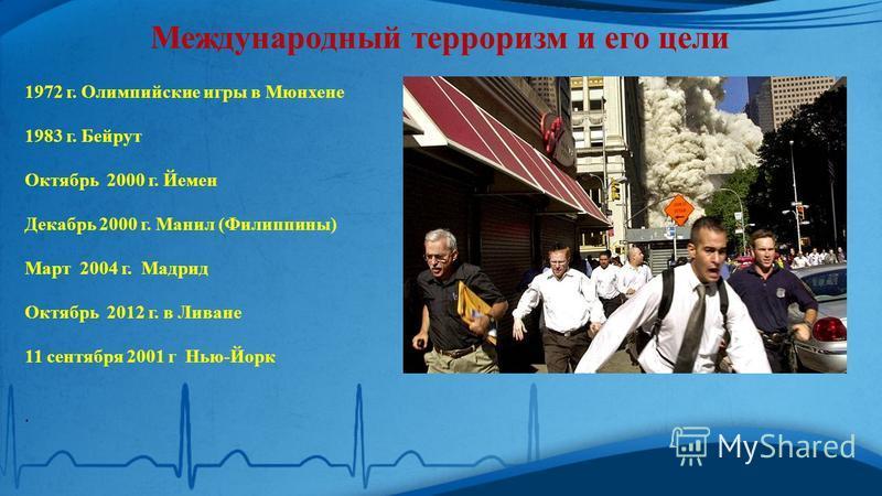 Цель террористов: Запугать Подавить противника морально Физическое насилие Уничтожение людей Поджоги Взрывы Захват заложников