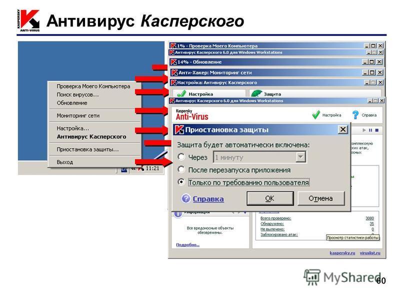 60 Антивирус Касперского ПКМ