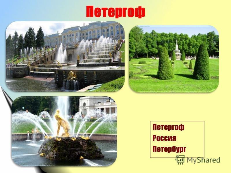 Петергоф Россия Петербург
