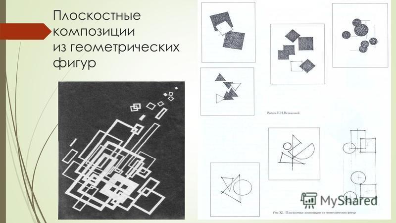 Плоскостные композиции из геометрических фигур