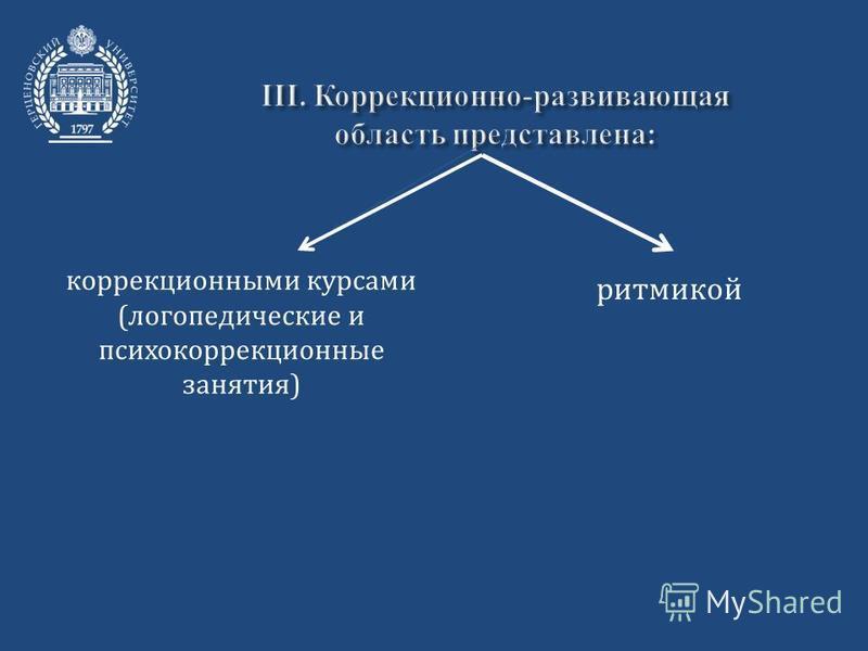 коррекционными курсами (логопедические и психокоррекционные занятия) ритмикой