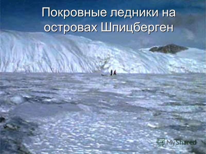 Покровные ледники на островах Шпицберген