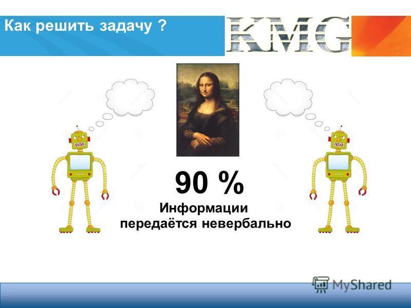 3 Cleantech Open Россия – All Rights Reserved Как решить задачу ? 90 % Информации передаётся невербально