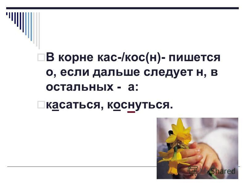 В корне кас-/кос(н)- пишется о, если дальше следует н, в остальных - а: касаться, коснуться.
