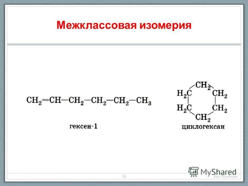 Межклассовая изомерия Julia Kjahrenova 14