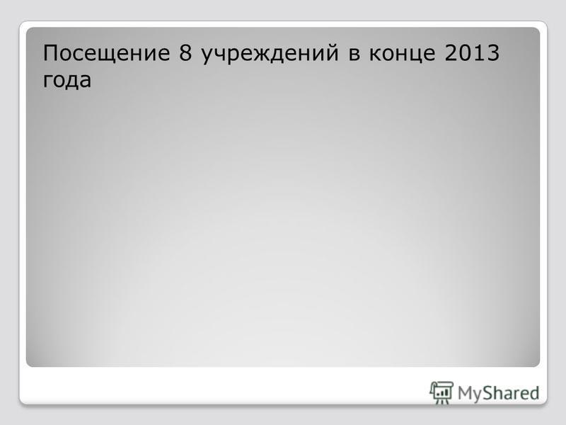 Посещение 8 учреждений в конце 2013 года