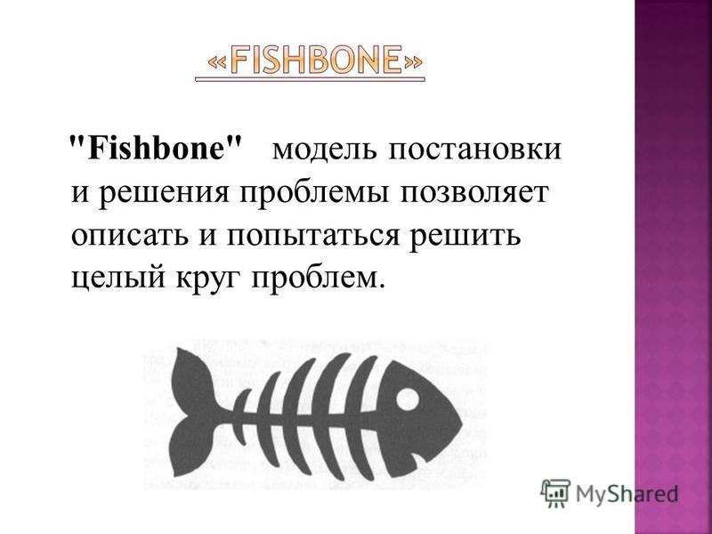 Fishbone модель постановки и решения проблемы позволяет описать и попытаться решить целый круг проблем.