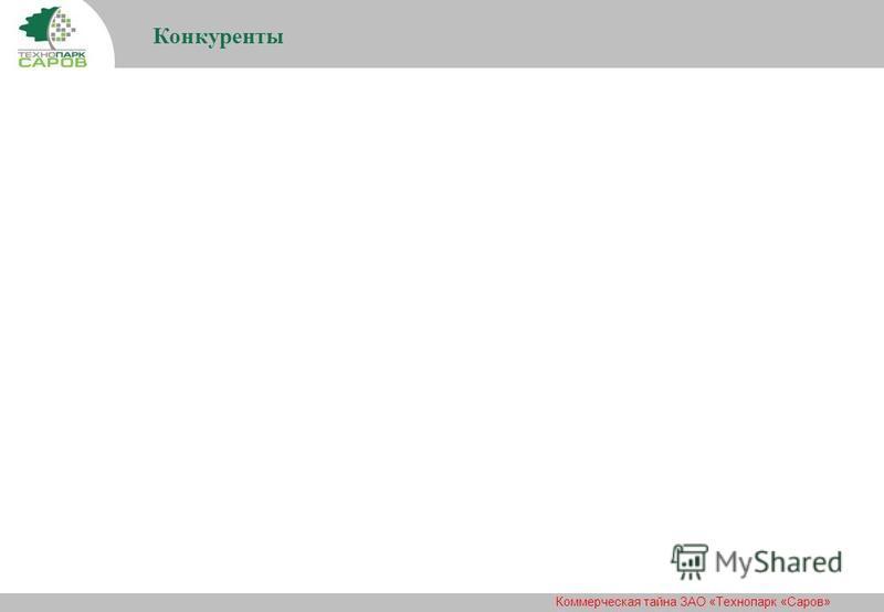 Коммерческая тайна ЗАО «Технопарк «Саров» Конкуренты