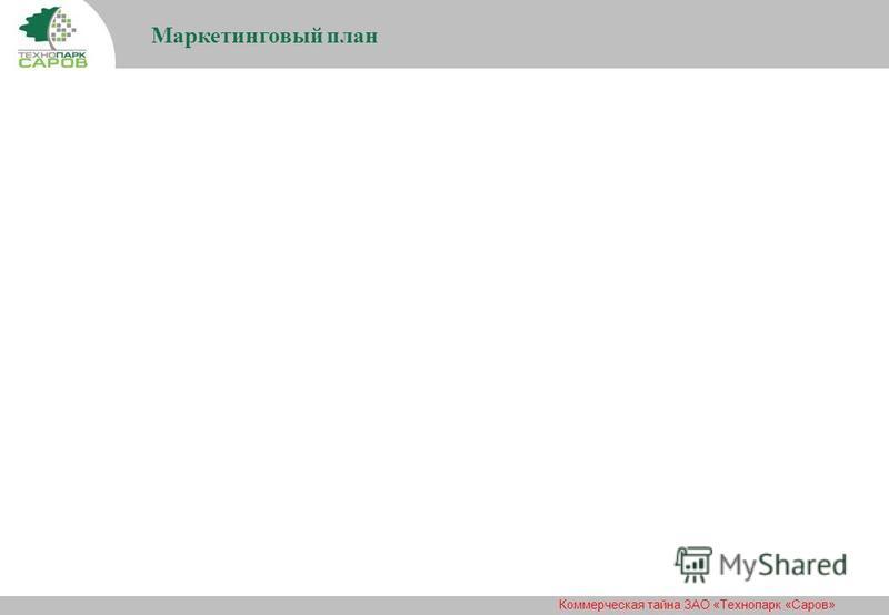 Коммерческая тайна ЗАО «Технопарк «Саров» Маркетинговый план