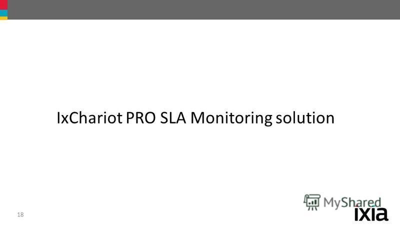 18 IxChariot PRO SLA Monitoring solution