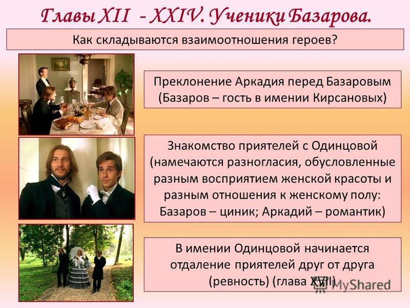 знакомство базарова с братьями кирсановыми