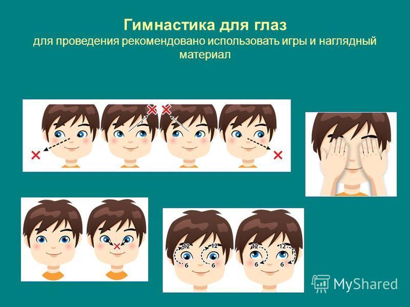 Гимнастика для глаз для проведения рекомендовано использовать игры и наглядный материал