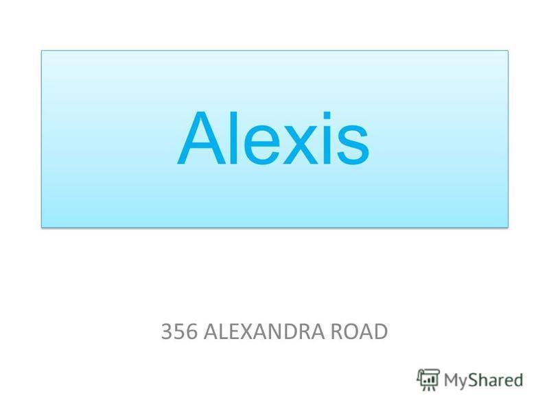 Alexis 356 ALEXANDRA ROAD