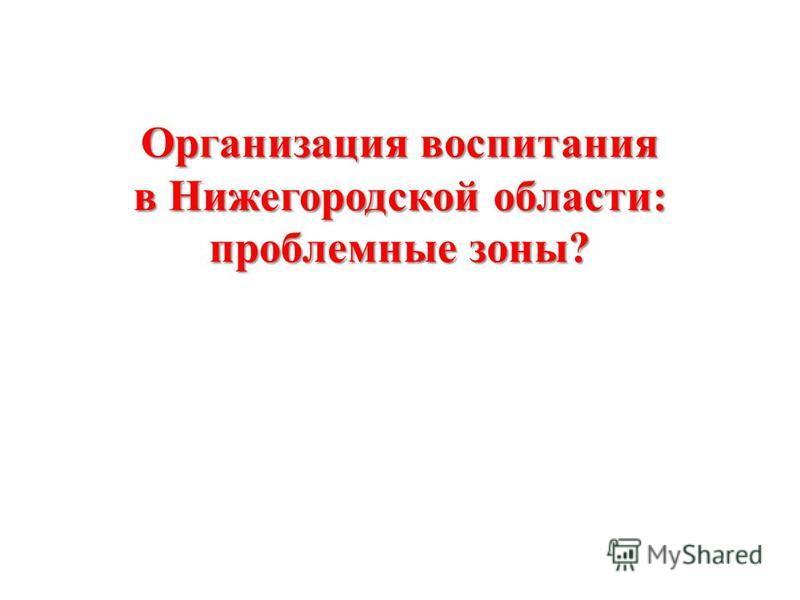 Организация воспитания в Нижегородской области: проблемные зоны?